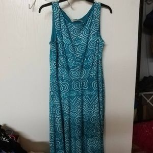 Evan Picone blue and white dress. Size 12.